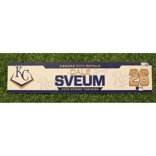 Photo of Team-Issued 2019 Spring Training Locker Tag: Dale Sveum #26