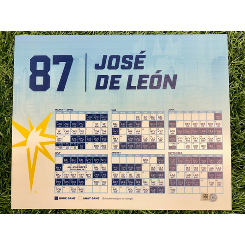 Photo of Rays Baseball Foundation: Game Used Opening Day Locker Tag: Jose De Leon - March 28, 2019 v HOU