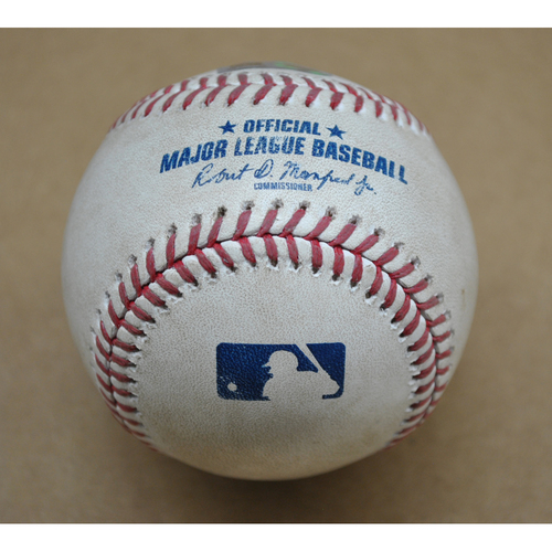 Game-Used Baseball - CHC at PIT - 9/21/2020 - Pitcher: JT Brubaker, Batter: Victor Caratini, Top 5, Double