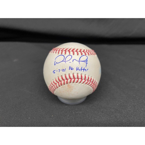 Photo of Wade Miley No-Hitter - *Autographed Game-Used Baseball* - Bot 1 - Wade Miley to Jose Ramirez (Foul) - Inscribed as 5-7-21 No Hitter