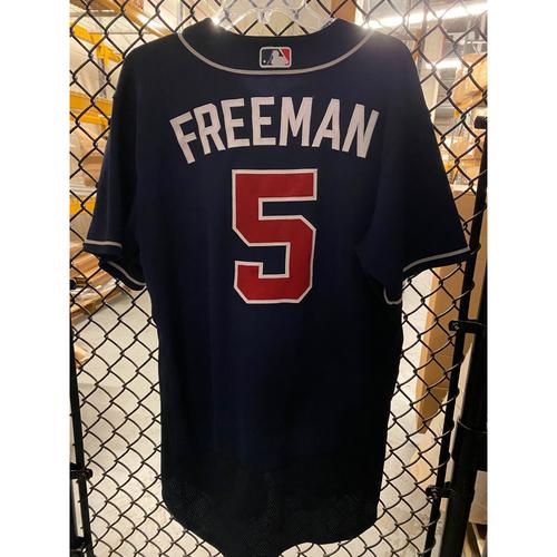 Photo of Freddie Freeman Game Used 2020 Playoff Jersey - Worn 10/8/20 NLDS Gm 3, 10/13/20 NLCS Gm 2 - Home Run - 2020 NL MVP - Size 46