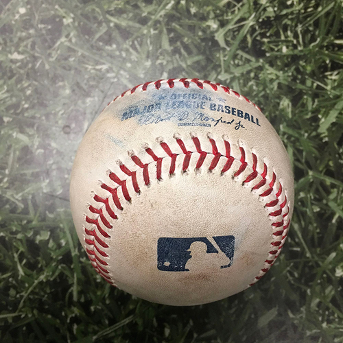 Photo of Game-Used Baseball STL@MIL 09/03/21 - Adam Wainwright - Eduardo Escobar: First Four Pitches of At-Bat - Called Strike, Called Strike, Ball, Foul (Adam Wainwright & Yadier Molina 300th Career Start Together; 4th Battery to Reach Milestone in MLB Hi...