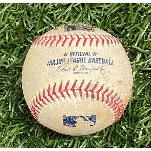 Photo of Game Used Baseball: Tyler Glasnow strikes out Bo Bichette - Top 5 - April 23, 2021 v TOR