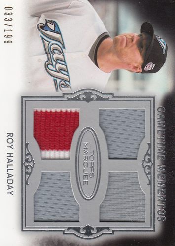 Photo of 2011 Topps Marquee Gametime Mementos Quad Relics #GMQR10 Roy Halladay