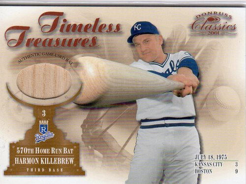 Photo of 2001 Donruss Classics Timeless Treasures #TT3 Harmon Killebrew Bat SP