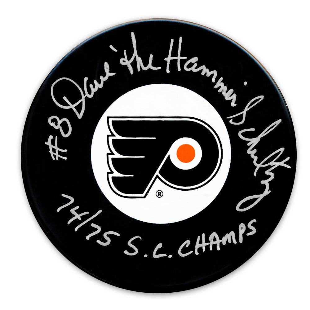 Dave Schultz Philadelphia Flyers 1974/75 SC Champs Autographed Puck