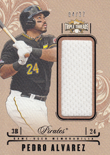 Photo of 2014 Topps Triple Threads Unity Relics Sepia #UJRPAL Pedro Alvarez