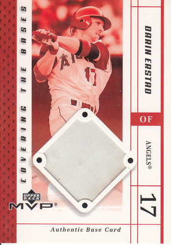 Photo of 2003 Upper Deck MVP Covering the Bases #DE Darin Erstad Used Base