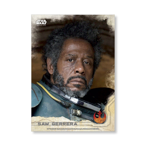 Saw Gerrera 2016 Star Wars Rogue One Series One Base Poster - # to 99