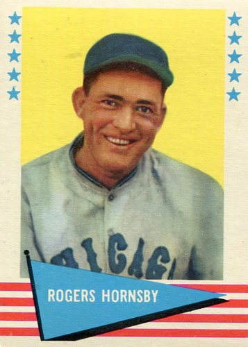 Photo of 1961 Fleer #43 Rogers Hornsby -- Hall of Fame Class of 1942