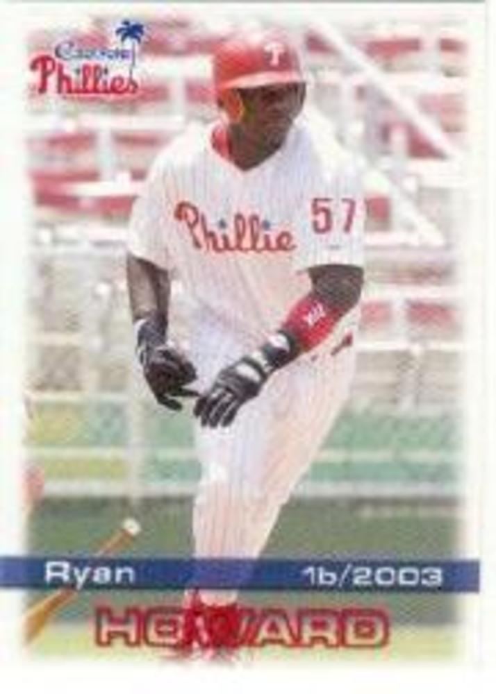 2003 Clearwater Phillies Grandstand #14 Ryan Howard