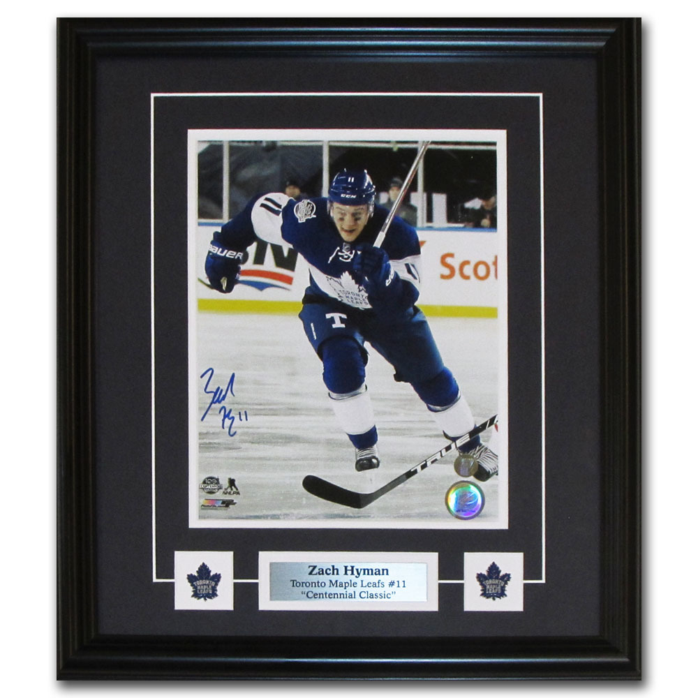 Zach Hyman Autographed Toronto Maple Leafs 2017 NHL Centennial Classic Framed 8X10 Photo