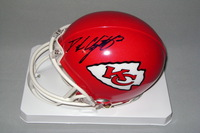 NFL - CHIEFS DUSTIN COLQUITT SIGNED CHIEFS MINI HELMET