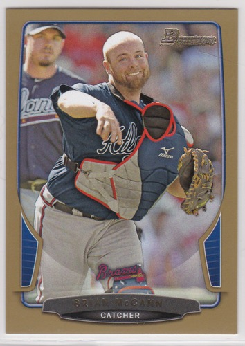 Photo of 2013 Bowman Gold #47 Brian McCann