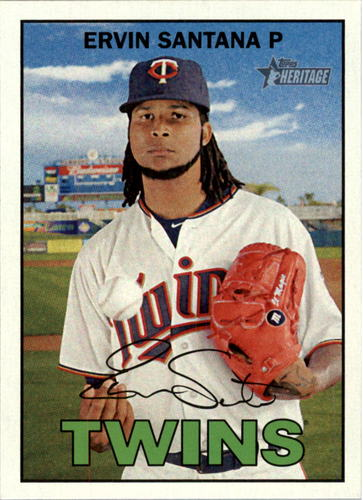 Photo of 2016 Topps Heritage #299 Ervin Santana -- Twins post-season