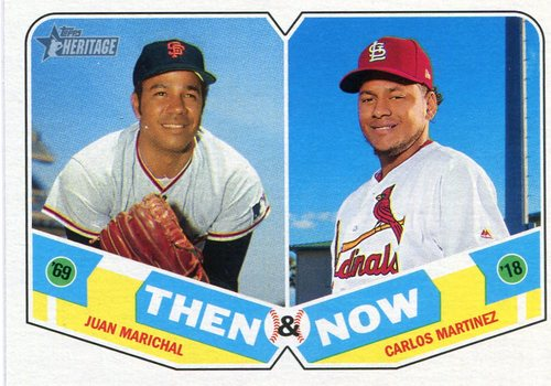 Photo of 2018 Topps Heritage Then and Now #TN13 Juan Marichal/Carlos Martinez