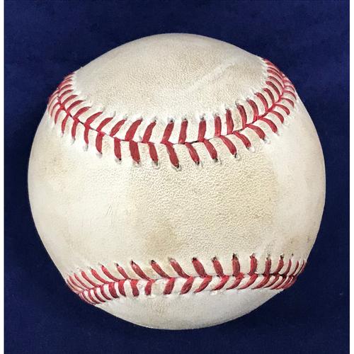 Photo of Shohei Ohtani Game-Used Baseball - Groundout, 4/4/18 v Indians