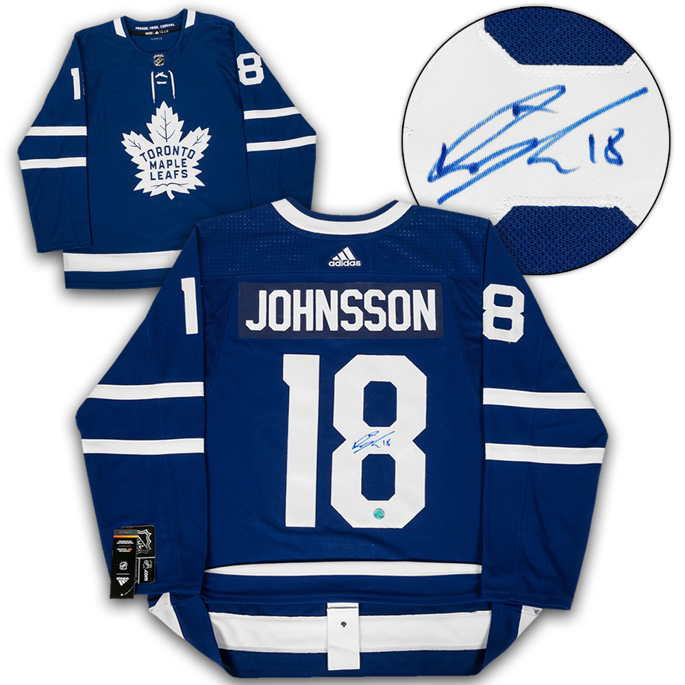 Andreas Johnsson Toronto Maple Leafs Autographed Adidas Authentic Hockey Jersey