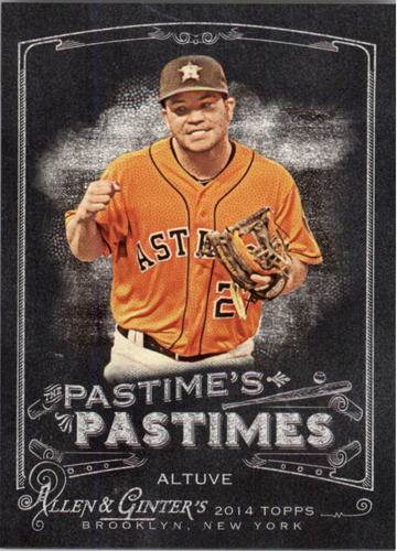 Photo of 2014 Topps Allen and Ginter The Pastime's Pastime #PPJA Jose Altuve