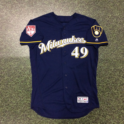 Photo of Andy Haines 2019 Game-Used Spring Training Jersey