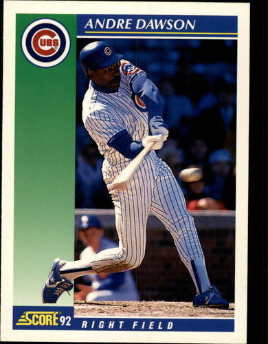 Photo of 1992 Score #75 Andre Dawson