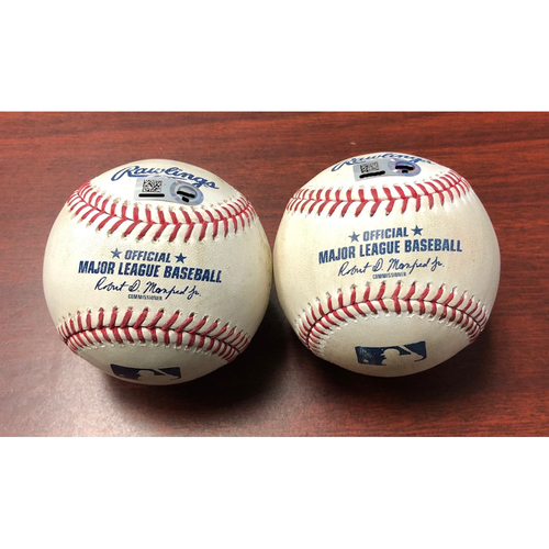 Game Used Baseballs: Brendan McKay - FIRST MLB SEASON and SECOND CAREER START - July 5, 2019 v NYY