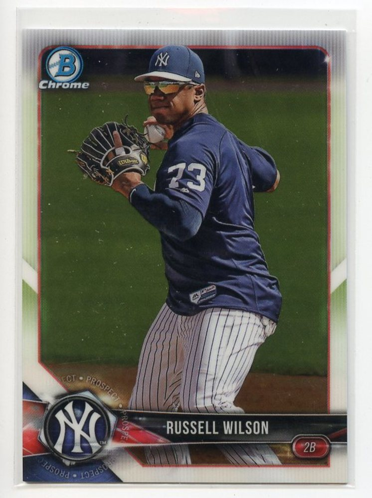 2018 Bowman Chrome Prospects #BCP151 Russell Wilson