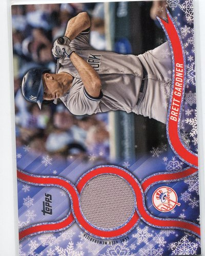 Photo of 2018 Topps Walmart Holiday Snowflake Relics #RBG Brett Gardner