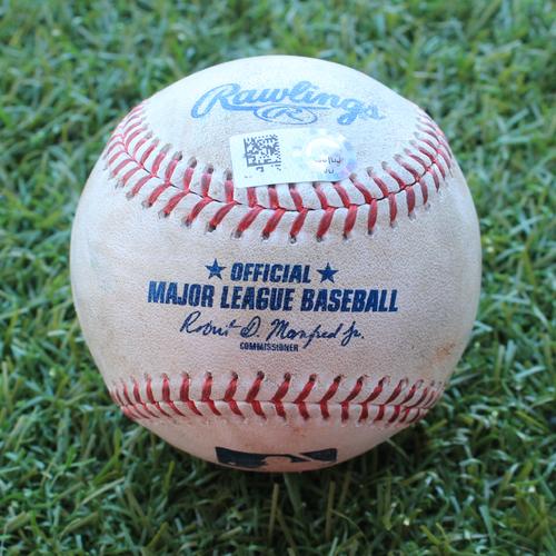 Photo of Game-Used Baseball: Jeimer Candelario 202nd Career Hit (DET @ KC - 7/14/19)