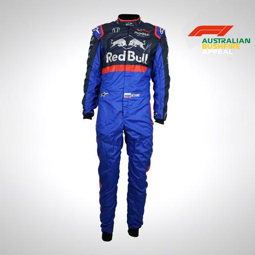 Photo of Daniil Kvyat 2019 Signed Race-worn Race Suit