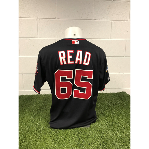 Photo of Game-Used Raudy Read 2019 Navy Script Jersey with Postseason Patch