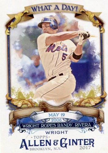 Photo of 2017 Topps Allen and Ginter What a Day #WAD55 David Wright