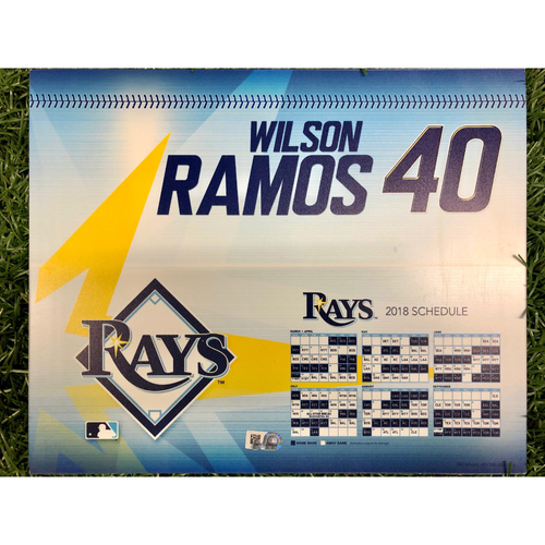 Photo of Rays Baseball Foundation: Game Used Opening Day Locker Tag: Wilson Ramos - March 29, 2018 v BOS