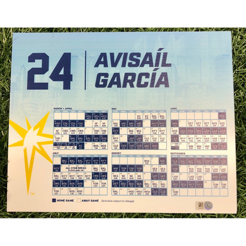 Photo of Rays Baseball Foundation: Game Used Opening Day Locker Tag: Avisail Garcia - March 28, 2019 v HOU