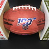 Bills - Zay Jones Signed Authentic Football w/ 100 seasons and Bills Logo