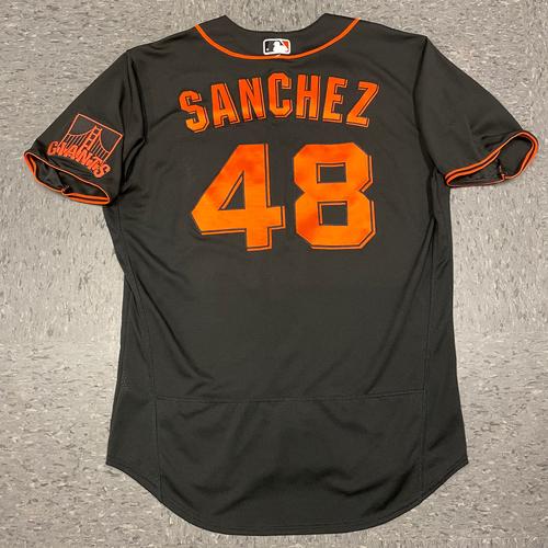 Photo of 2021 Black Home Alt Jersey - #48 Aaron Sanchez - Size 46