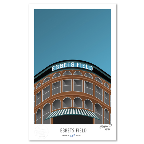 Photo of Ebbets Field - Collector's Edition Minimalist Art Print by S. Preston Limited Edition /350  - Brooklyn Dodgers