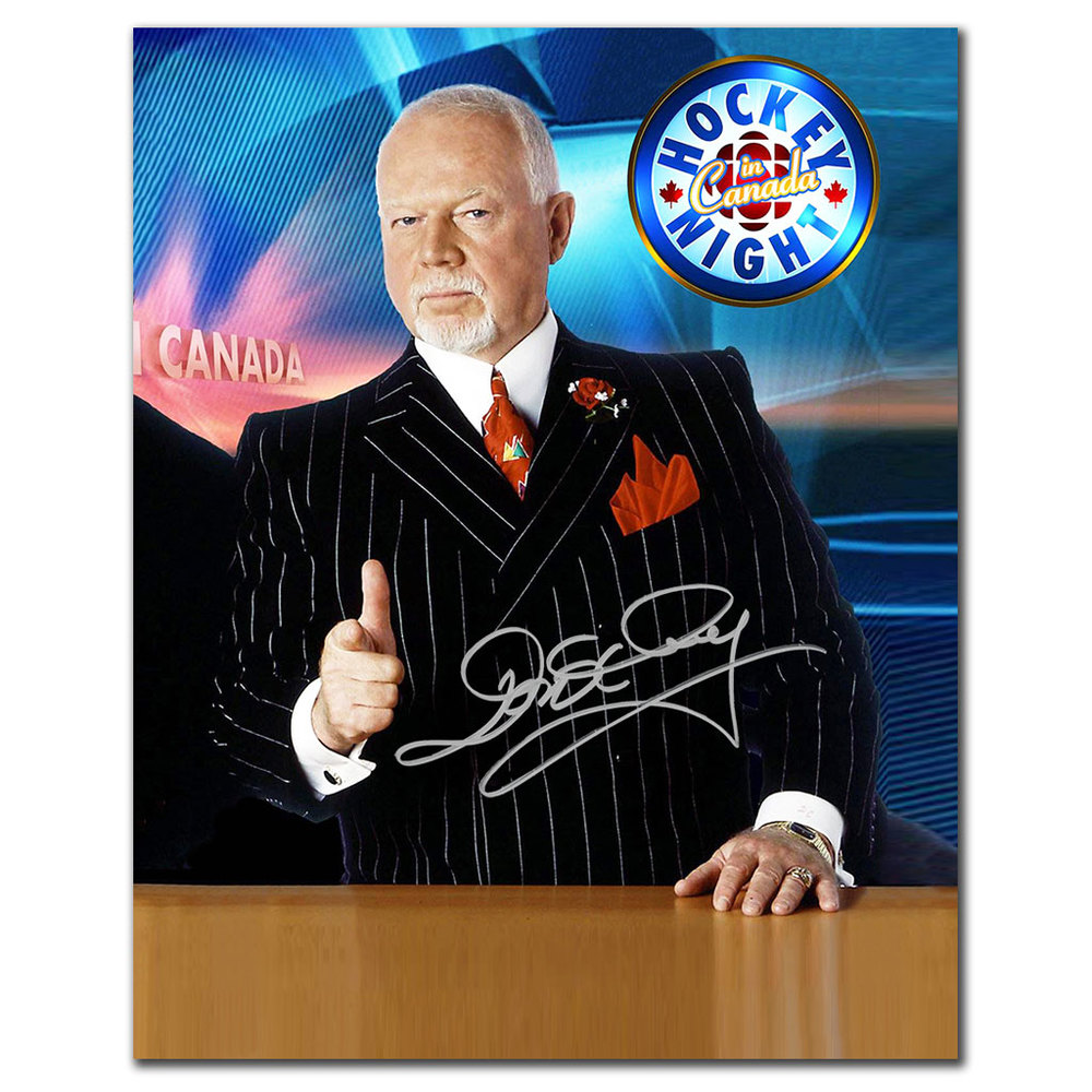 Don Cherry Hockey Night In Canada Autographed 8x10