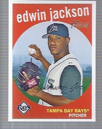 Photo of 2008 Topps Heritage #413 Edwin Jackson