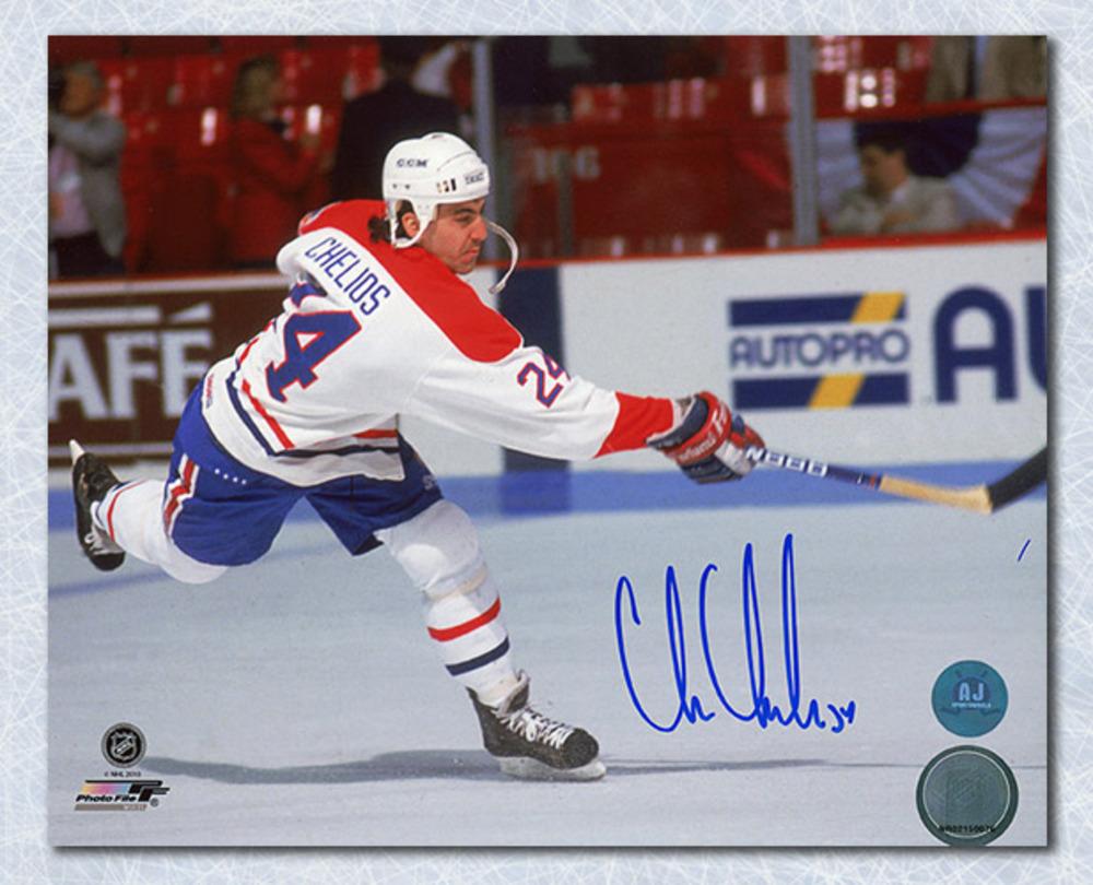 Chris Chelios Montreal Canadiens Autographed 8x10 Photo