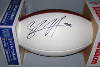 NFL - CHARGERS SHAWNE MERRIMAN SIGNED PANEL BALL