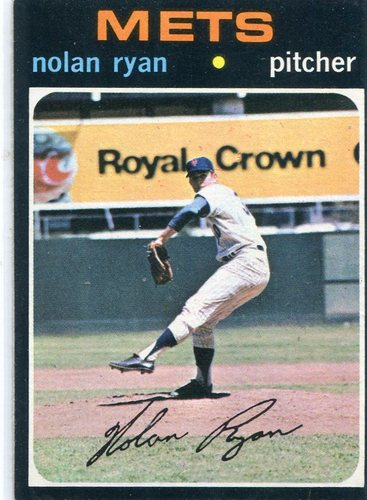 Photo of 1971 Topps #513 Nolan Ryan -- Hall of Famer