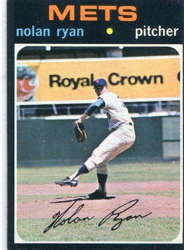 Photo of 1971 Topps #513 Nolan Ryan -- Hall of Famer
