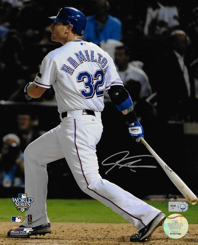 Photo of Josh Hamilton Autographed 8x10 Photo (Batting #3)