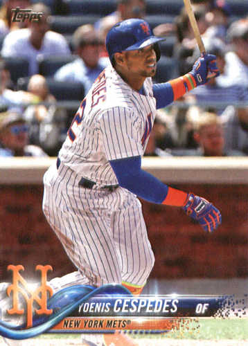 Photo of 2018 Topps #125 Yoenis Cespedes
