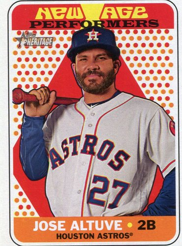Photo of 2018 Topps Heritage New Age Performers #NAP3 Jose Altuve