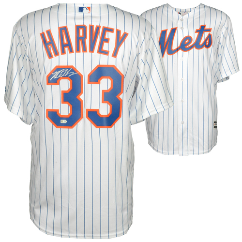 Photo of Matt Harvey New York Mets Autographed White Replica Jersey