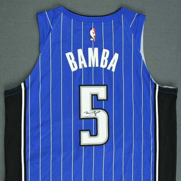 detailed look dac5d 36f28 Mohamed Bamba - Orlando Magic - 2018 NBA Draft - Autographed ...