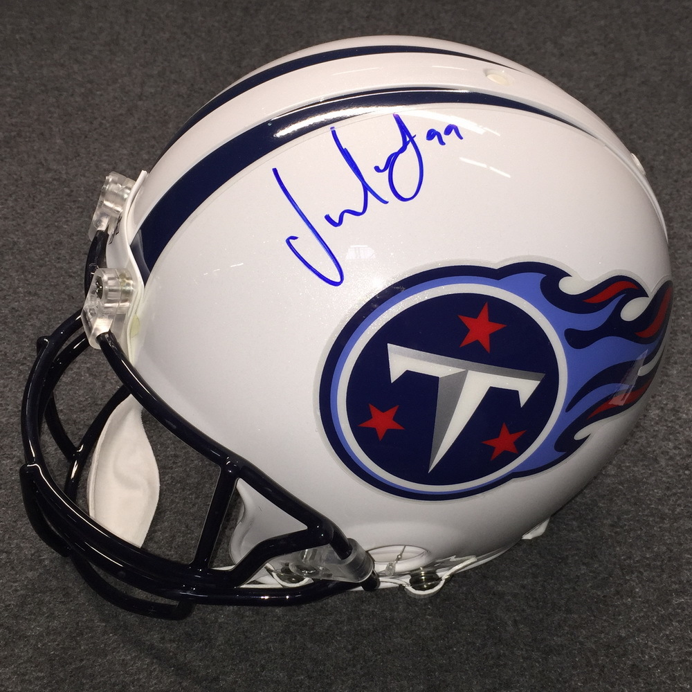 NFL - Titans Jurrell Casey signed Titans proline helmet