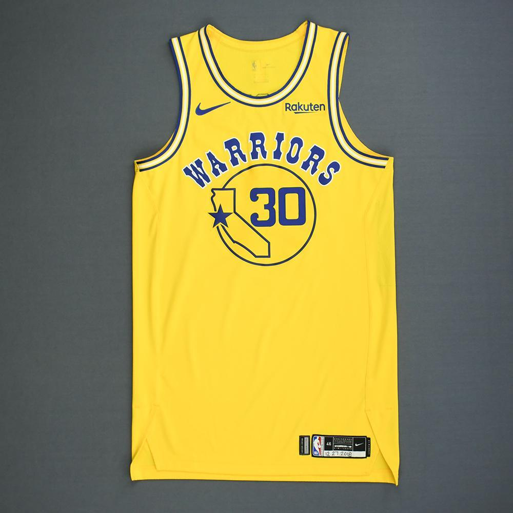 new concept 51144 6b174 Stephen Curry - Golden State Warriors - Game-Worn Classic ...